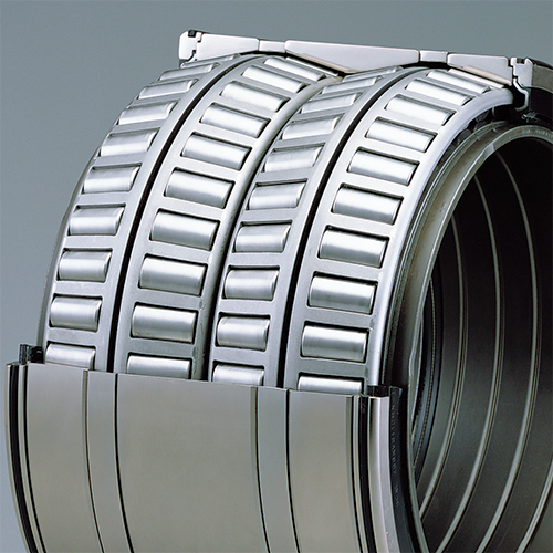 Long-life four-row sealed tapered roller bearings with water-resistant grease
