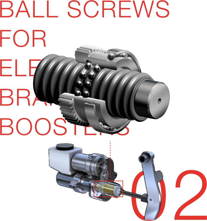 BALL SCREWS FOR ELECTRIC BRAKING BOOSTERS