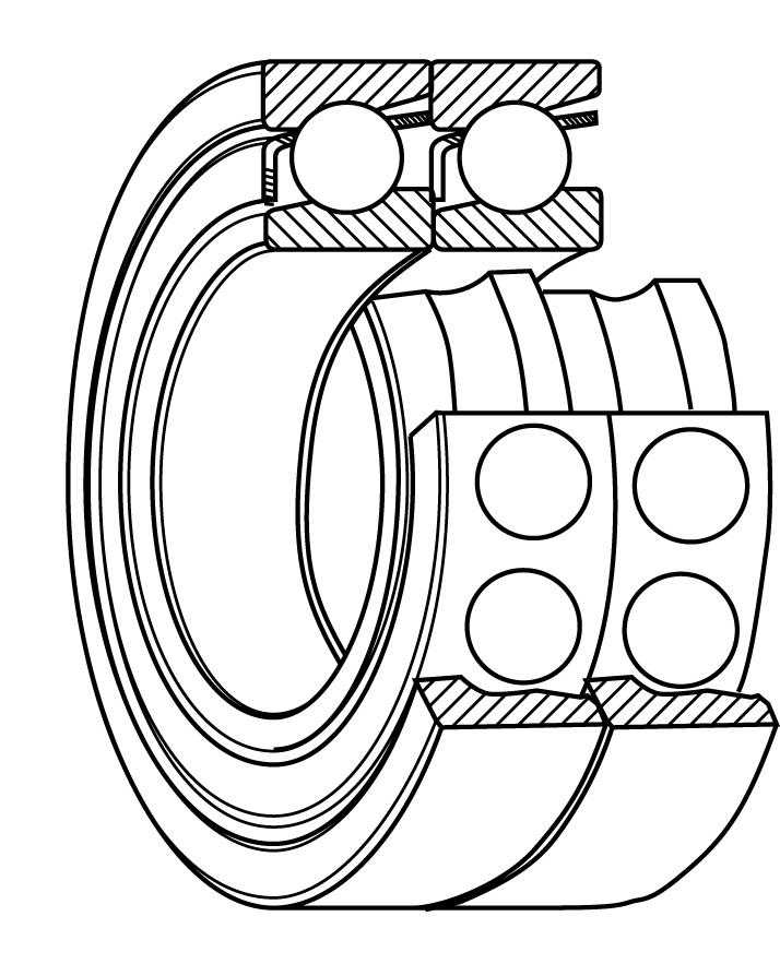 Sealed 60mm ANG Contact NSK 7312BEAT85SUGA Ball Bearing